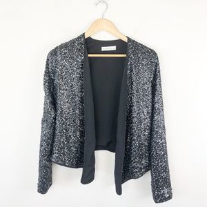 Abercrombie & Fitch Sequin Open Front Blazer
